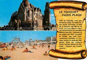 AK / Ansichtskarte Le Touquet Paris Plage La Plage Hotel de Ville Kat. Le Touquet Paris Plage