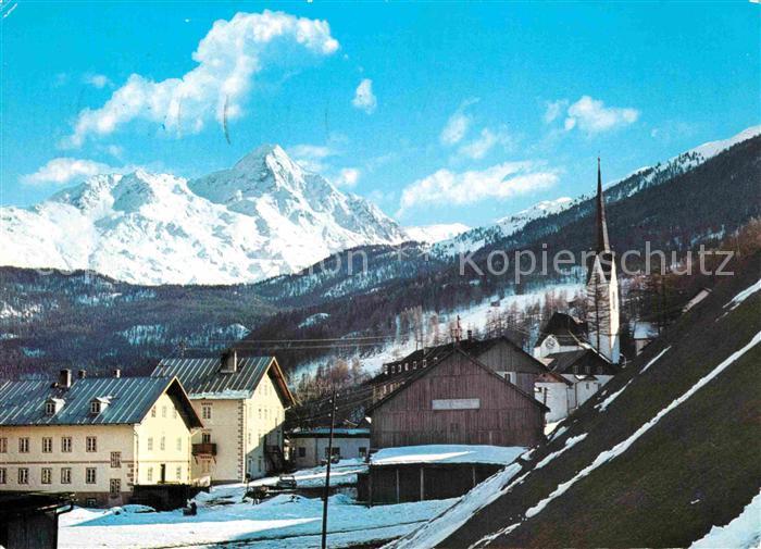 AK / Ansichtskarte Soelden oetztal Ortsansicht mit Kirche mit Blick auf den Niederkogel oetztaler Alpen Kat. Soelden