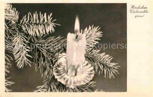 AK / Ansichtskarte Weihnachten Kerze  Kat. Greetings