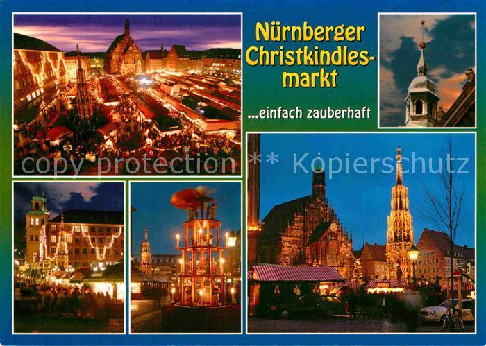 AK / Ansichtskarte Nuernberg Christkindlesmarkt bei Nacht Details Kat. Nuernberg
