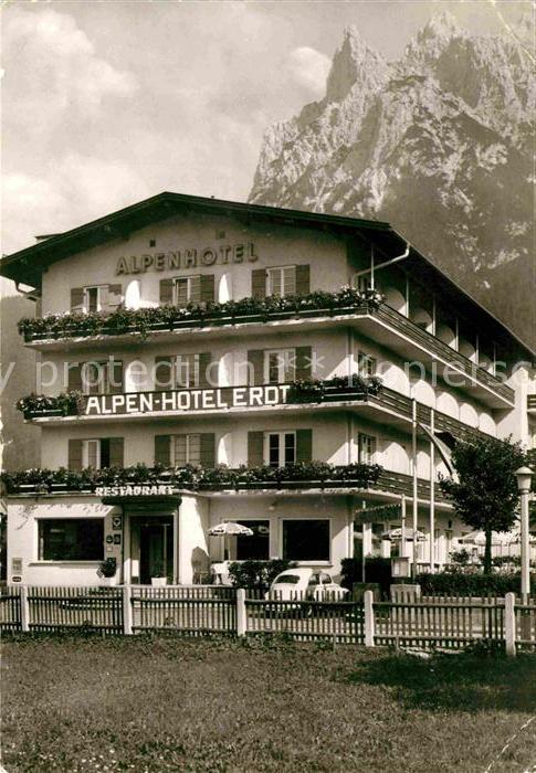 AK / Ansichtskarte Mittenwald Bayern Alpenhotel Erdt Kat. Mittenwald