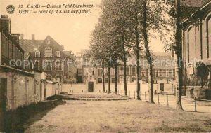 AK / Ansichtskarte Gent Gand Flandre Hoek op t Klein Begijnhof Kat.