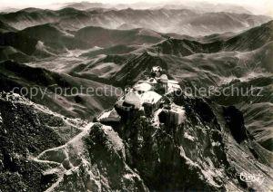 AK / Ansichtskarte Bigorre Hautes Pyrenees Region Pic du Midi Observatoire Gebirgspanorama Observatorium Fliegeraufnahme