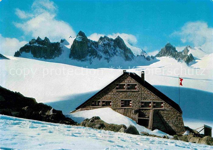 AK / Ansichtskarte Verbier Cabane du Trient Aiguilles Dorees et la Grande Fourche Kat. Verbier