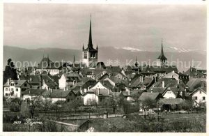 AK / Ansichtskarte Payerne Ortsansicht mit Kirche Kat. Payerne
