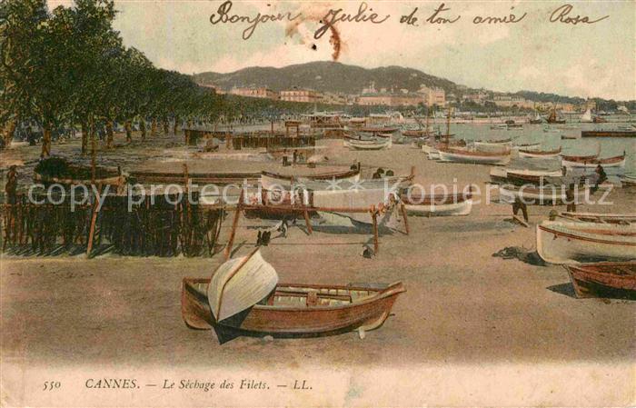 AK / Ansichtskarte Cannes Alpes Maritimes Le Sechage des Filets Plage Kat. Cannes