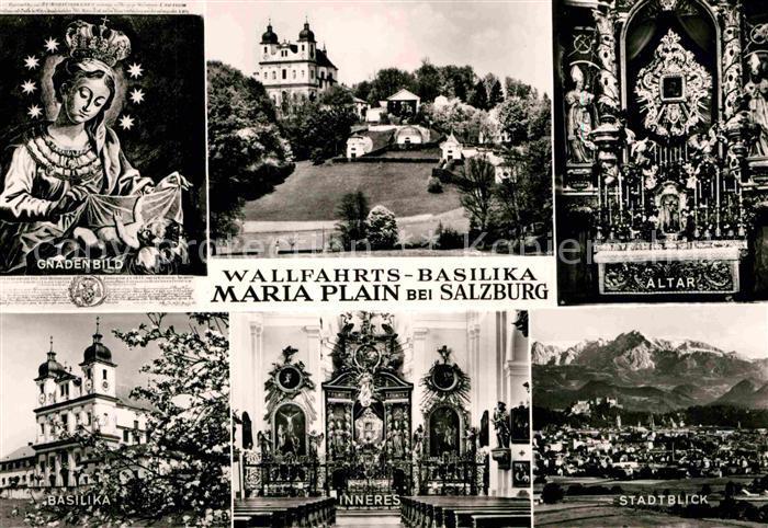 AK / Ansichtskarte Maria Plain Wallfahrtsbasilika Gnadenbild Altar