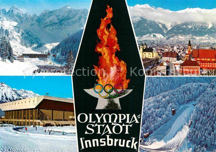 AK / Ansichtskarte Olympia Innsbruck Axamer Lizum Olympia Eisstadion Sprungschanze  Kat. Sport