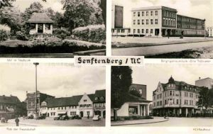 AK / Ansichtskarte Senftenberg Niederlausitz Platz der Freundschaft HO Kaufhaus Bergingenierschule Ernst Thaelmann Kat. Senftenberg