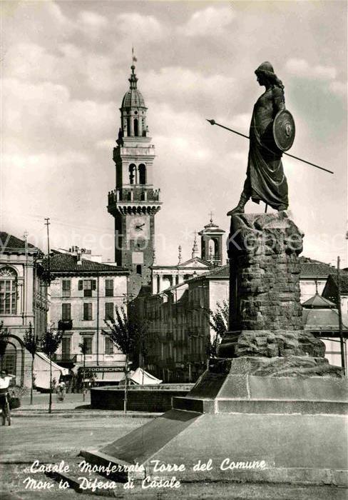 AK / Ansichtskarte Monferrato Piemont Casale Torre del Comune  Kat. Monferrato