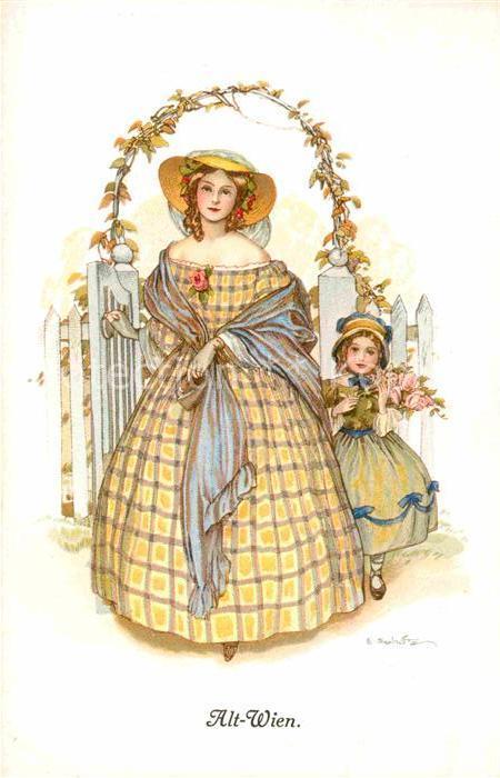 AK / Ansichtskarte Alt Wien Junge Frau mit Kind Kuenstlerkarte