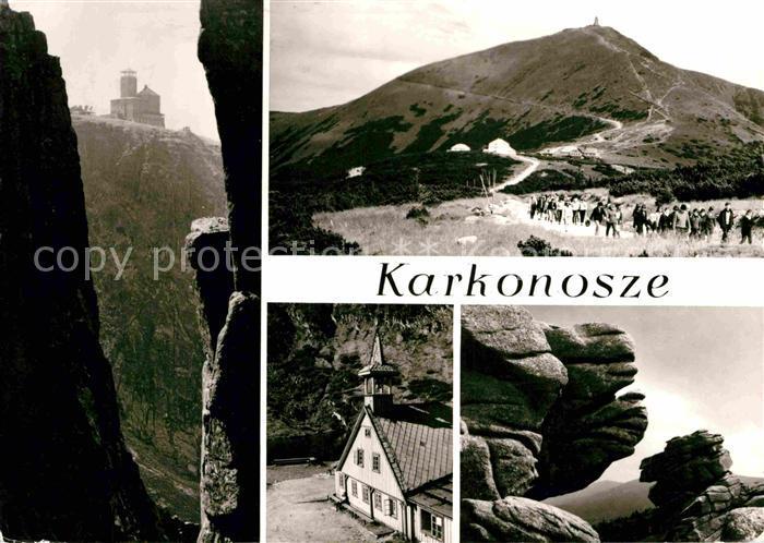 AK / Ansichtskarte Sniezka Karkonosze Berghaus Riesengebirge Felsen Wandern Kat. Tschechische Republik