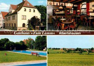 AK / Ansichtskarte Albertshausen Wuerzburg gasthaus zum Lamm Kat. Reichenberg