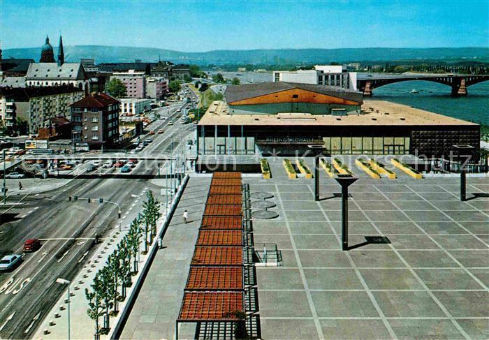 AK / Ansichtskarte Mainz Rhein Rathausplatz Rheingoldhalle Theodor Heuss Bruecke