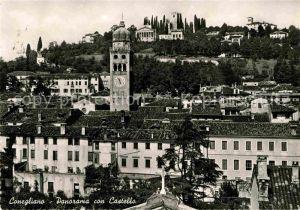 AK / Ansichtskarte Conegliano Panorama con Castello Kat. Conegliano