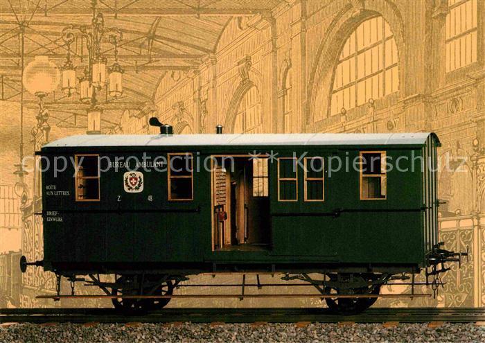 AK / Ansichtskarte Eisenbahn Bahnpostwagen Schweiz  Kat. Eisenbahn