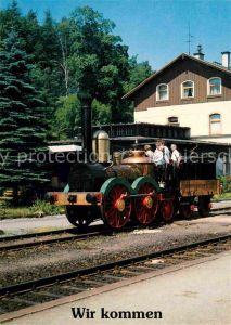AK / Ansichtskarte Lokomotive Saxonia Bahnhof Annaberg Buchholz Sued  Kat. Eisenbahn