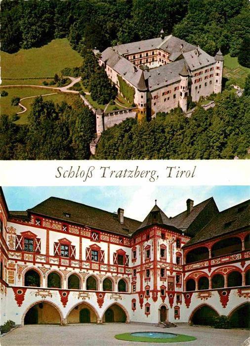 AK / Ansichtskarte Jenbach Tirol Fliegeraufnahme Schloss Tratzberg Innenhof