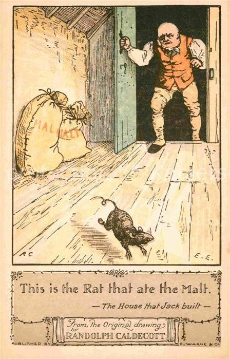 AK / Ansichtskarte Kuenstlerkarte Randolph Caldecott Rat Malt  Kat. Kuenstlerkarte