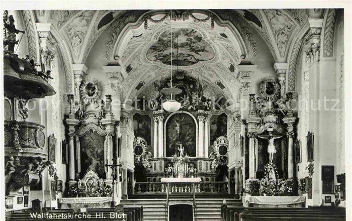 AK / Ansichtskarte Erding Wallfahrtskirche Heilig Blut Hochaltar Kat. Erding