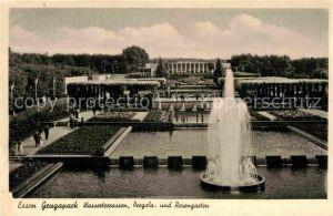 AK / Ansichtskarte Essen Ruhr Grugapark Wasserterrassen Pergola Rosengarten Kat. Essen