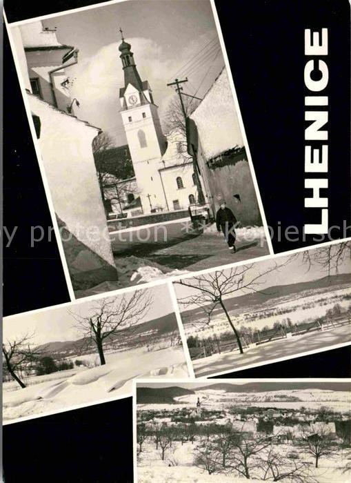 AK / Ansichtskarte Lhenice Ortspartie mit Kirche