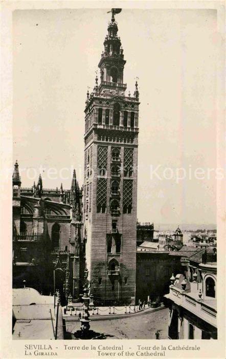 AK / Ansichtskarte Sevilla Andalucia La Giralda Torre de la Catedral  Kat. Sevilla