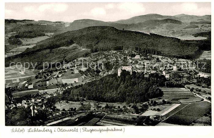 AK / Ansichtskarte Lichtenberg Odenwald Schloss Lichtenberg Fliegeraufnahme Kat. Fischbachtal