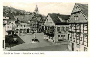 AK / Ansichtskarte Bad Orb Marktplatz mit Kath Kirche Kat. Bad Orb