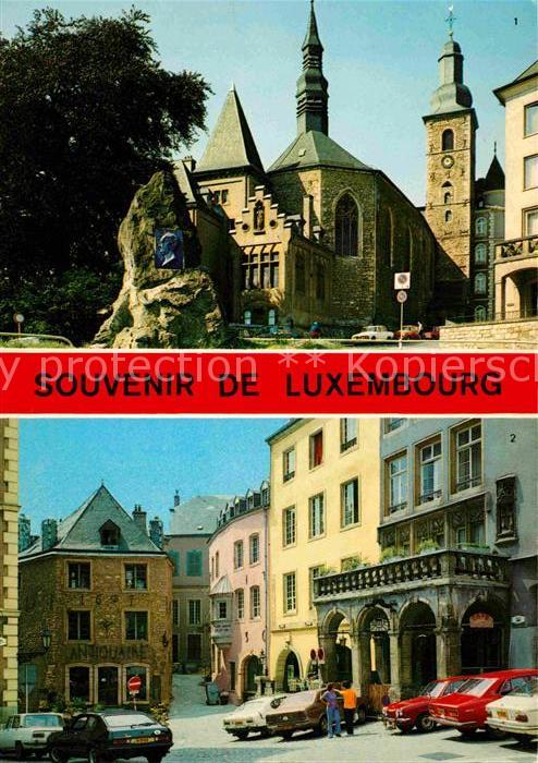AK / Ansichtskarte Luxembourg Luxemburg Eglise St Michel Monument Marche aux Poissons Kat. Luxembourg