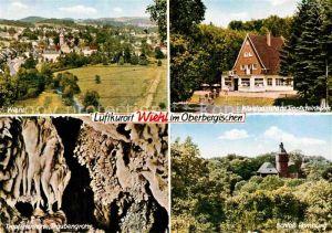 AK / Ansichtskarte Wiehl Gummersbach Waldgaststaette Tropfsteinhoehle Traubengrotte Schloss Homburg Kat. Wiehl