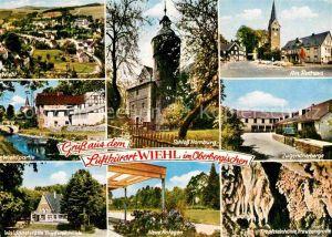 AK / Ansichtskarte Wiehl Gummersbach Waldgaststaette Tropfsteinhoehle Jugendherberge Schloss Homburg Kat. Wiehl