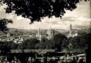 AK / Ansichtskarte Firenze Toscana Panorama dal Giardino di Boboli Kathedrale Kat. Firenze