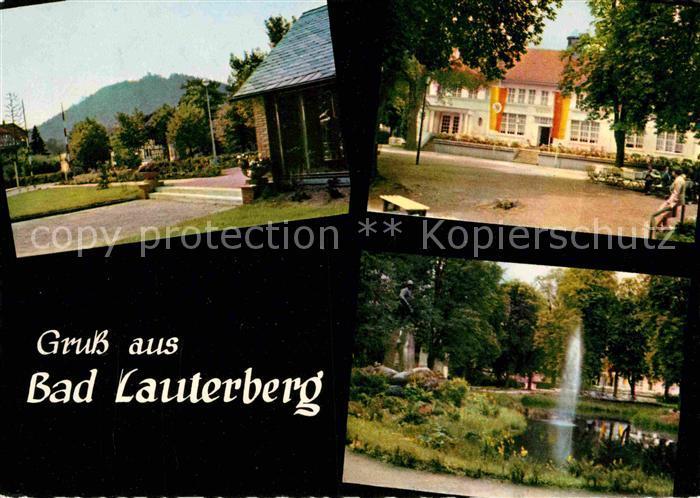 AK / Ansichtskarte Bad Lauterberg Hausberg Kurhaus Kurpark Denkmal Fontaene Kat. Bad Lauterberg im Harz