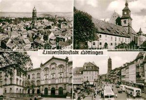 AK / Ansichtskarte Goettingen Niedersachsen Stadtbild Marienkirche mit Kommende Auditorium Weenderstrasse Kat. Goettingen