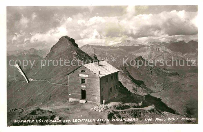 AK / Ansichtskarte Wormserhuette Lechtaler Alpen Vorarlberg Kat. Tschagguns Vorarlberg