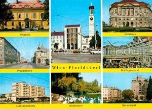 AK / Ansichtskarte Wien Floridsdorf Museum Amtshaus Schlingermarkt Pragerstrasse Autokaderstrasse Gartenstadt Kat. Wien