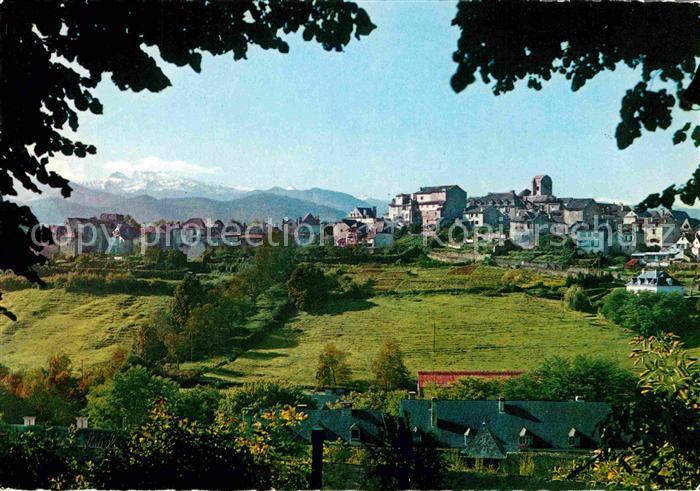 AK / Ansichtskarte Oloron Sainte Marie Quartier Sainte Croix et le Pic d Anie et les Pyrenees Kat. Oloron Sainte Marie