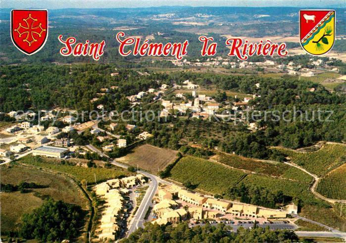 AK / Ansichtskarte Saint Clement de Riviere Fliegeraufnahme  Kat. Saint Clement de Riviere