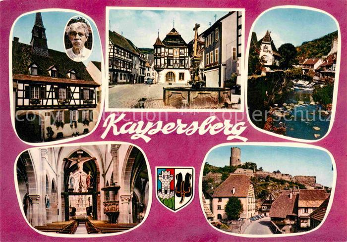 AK / Ansichtskarte Kaysersberg Haut Rhin Marktplatz Kirche Inneres Burg Kat. Kaysersberg