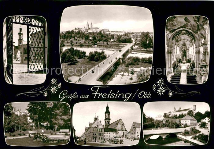 AK / Ansichtskarte Freising Oberbayern Moosachbruecke Domberg Panorama Kat. Freising