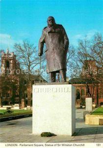 AK / Ansichtskarte London Parliament Square Statue of Sir Winston Churchill Kat. City of London