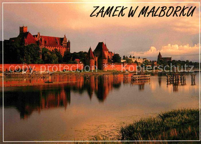 AK / Ansichtskarte Malbork Schloss Ansicht von Nogat Kat. Marienburg Westpreussen