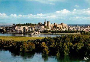 AK / Ansichtskarte Avignon Vaucluse Pont Saint Benezet Palais des Papes Rocher des Doms vus de la Tour Philippe le Bel Kat. Avignon