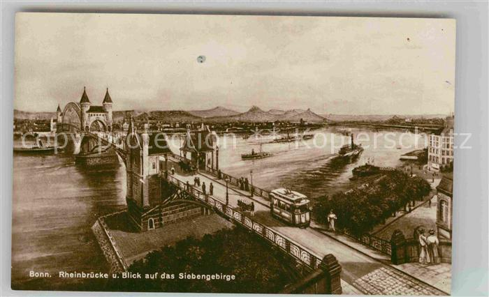 AK / Ansichtskarte Bonn Rhein Rheinbruecke Siebengebirge Kat. Bonn