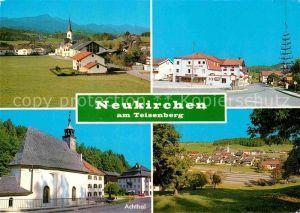 AK / Ansichtskarte Neukirchen Teisenberg Ortsansicht mit Kirche Maibaum Urlaubsort im Berchtesgadener Land Kat. Teisendorf