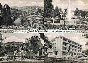 AK / Ansichtskarte Bad Muenster Stein Ebernburg Blick von der Gans Kurpark Kurhaus Parksanatorium Kat. Bad Muenster am Stein Ebernburg