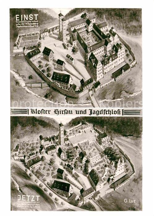 AK / Ansichtskarte Hirsau Kloster einst und jetzt Kat. Calw