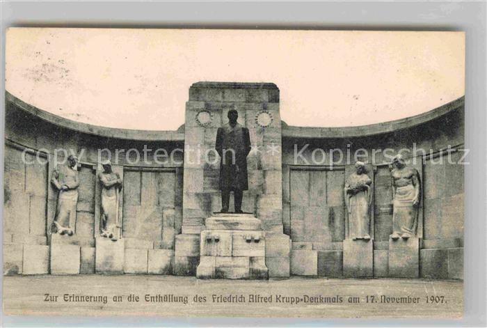 AK / Ansichtskarte Essen Ruhr Enthuellung Friedrich Alfred Krupp Denkmal 17. November 1907 Kat. Essen
