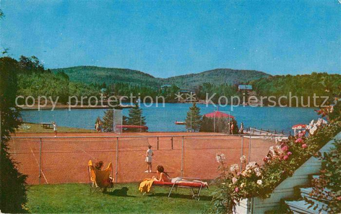 AK / Ansichtskarte Sainte Agathe des Monts Tennis Courts at the Laurentide Inn Lac des Sables Kat. Quebec